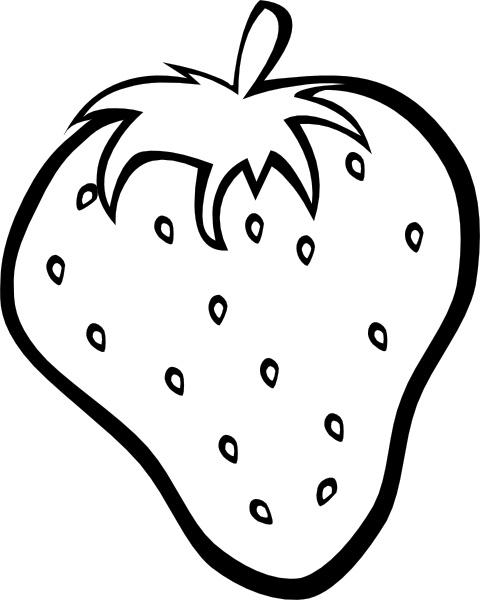 Outline Strawberry clip art
