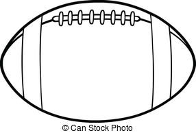 ... Outlined American Footbal - Football Clipart Black And White