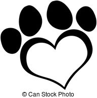 Outlined Love Paw Print Clipartby HitToon93/8,616; Black Love Paw Print Cartoon Character