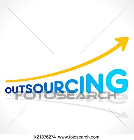 Clipart - creative outsourcing word graph. Fotosearch - Search Clip Art,  Illustration Murals,