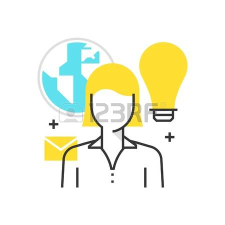 Color box icon, outsource, cloud concept illustration, icon, background and  graphics.