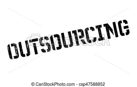Outsourcing rubber stamp - csp47588852