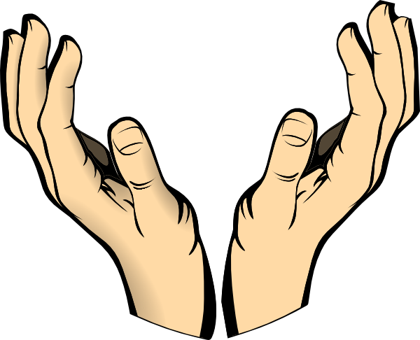 outstretched hand clipart - Hands Clipart