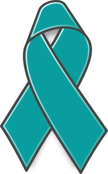 Ovarian Cancer Ribbon clip art - vector clip art online, royalty .