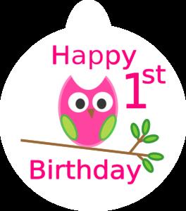 Owl 1st Birthday Clip Art At Clker Com Vector Clip Art Online
