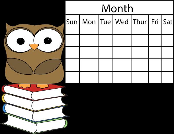 Owl And Calendar Clip Art Owl And Calendar Image