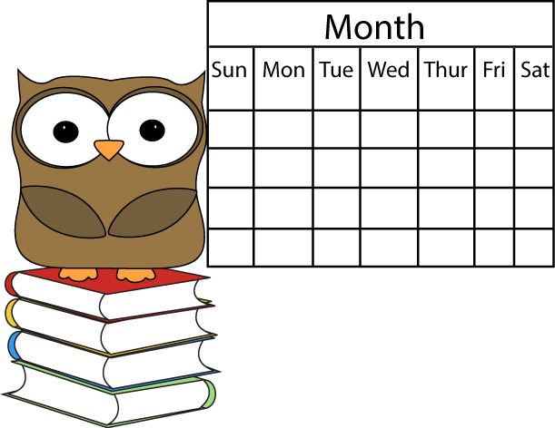 Owl And Calendar Clip Art Owl ..-Owl And Calendar Clip Art Owl ..-17