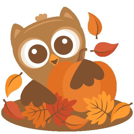 Owl Behind Pumpkin SVG .