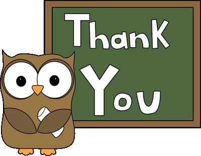 Owl Chalkboard Thank You