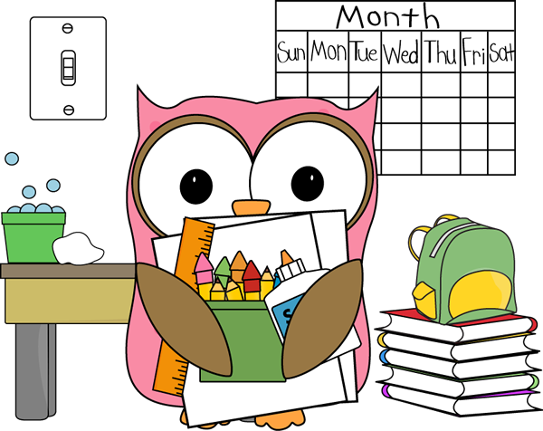 Owl Classroom Job Subsitute Clip Art