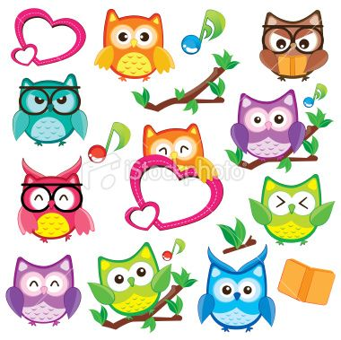Owl clip art images | Cute and Happy Owl Clip Art Royalty Free Stock Vector Art