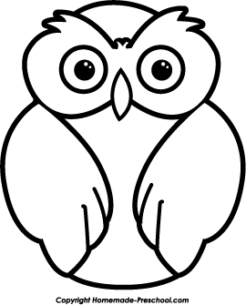 Owl Clipart Black And White ... Click to Save Image