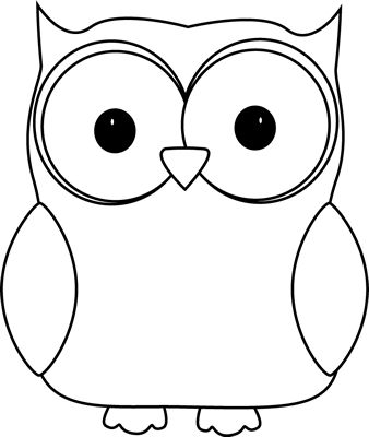 Owl Clipart Black And White C - Black And White Owl Clip Art