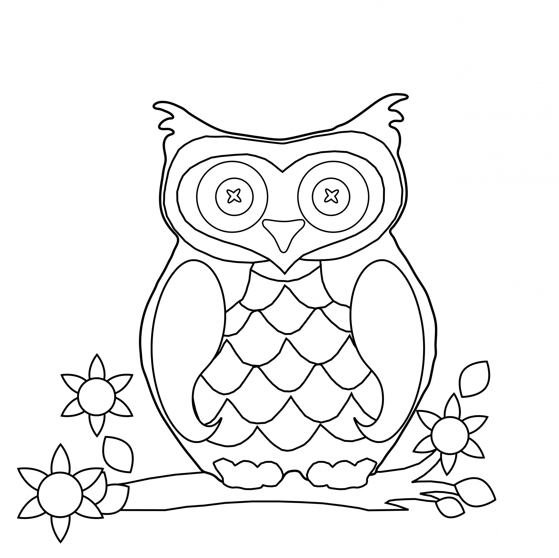 ... Owl Coloring Page Clipart ...