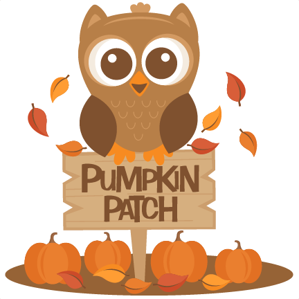 Owl in Pumpkin Patch SVG .