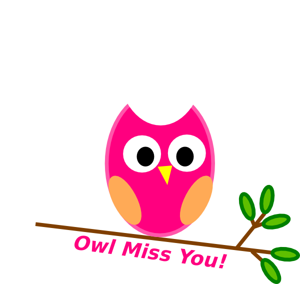 Owl Miss You Pink clip art .-Owl Miss You Pink clip art .-5