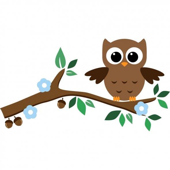 Owl On Tree Branch Clip Art ..-Owl On Tree Branch Clip Art ..-12