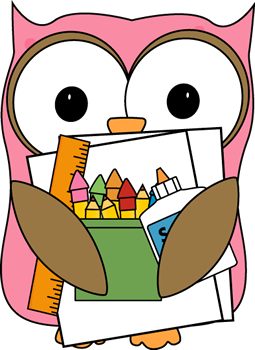 Owl Supply Monitor Clip Art Image Owl Carrying A Stack Of School