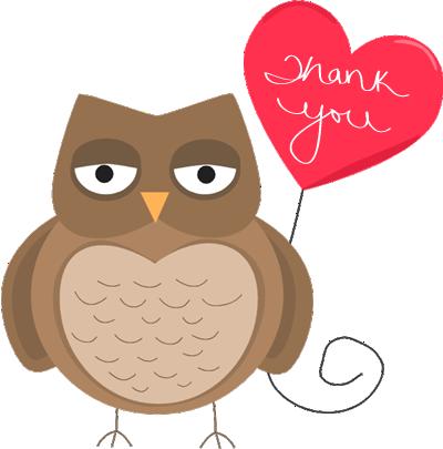 Owl Thanks - Clip Art Thanks