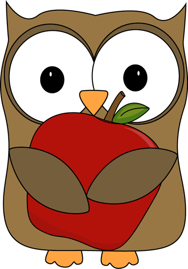 Owl with a Red Apple