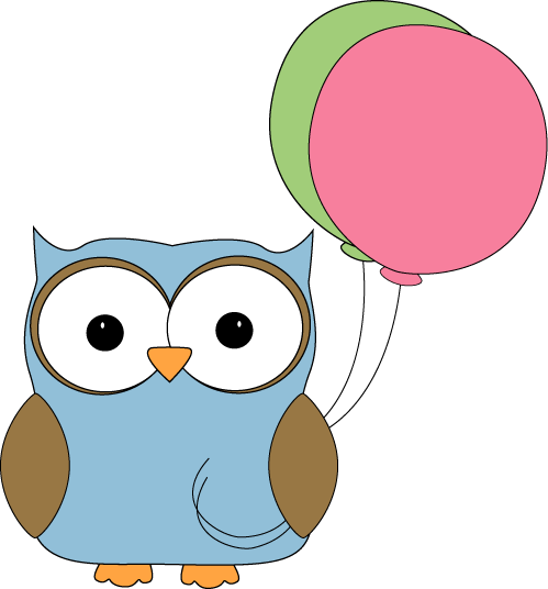 Owl With Balloons