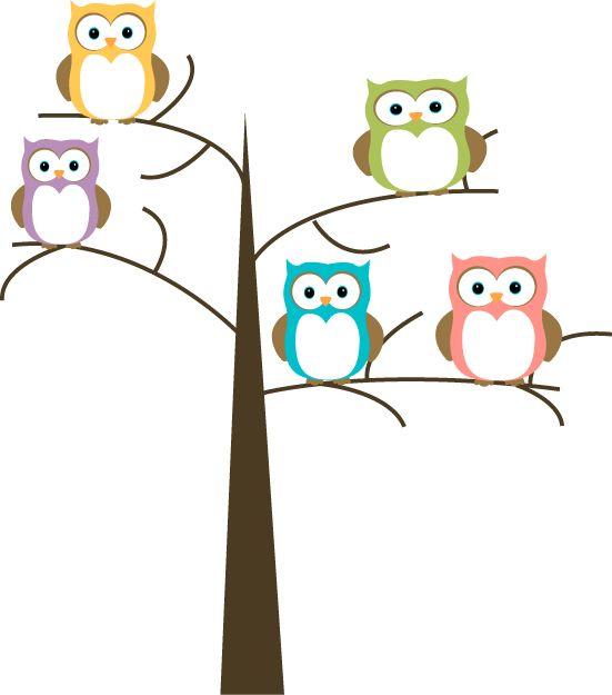 Owls in a Tree Clip Art - Owls in a Tree-Owls in a Tree Clip Art - Owls in a Tree Image-17