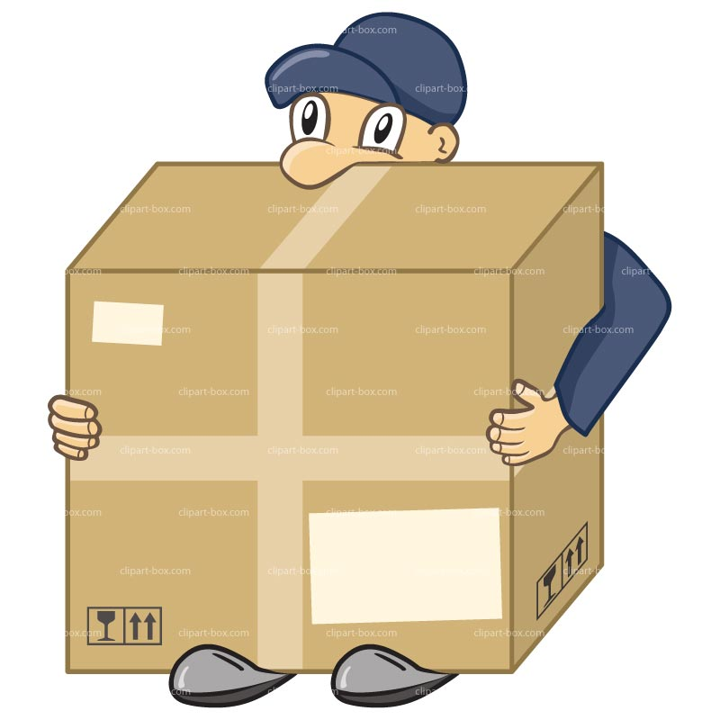 Package Delivery Clipart Clipart Delivery Man