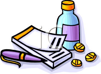 Pad And Medicine Clip Art