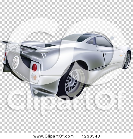 Clipart of a Silver Pagani Zonda C12S Sports Car - Royalty Free Vector  Illustration by dero #1230343