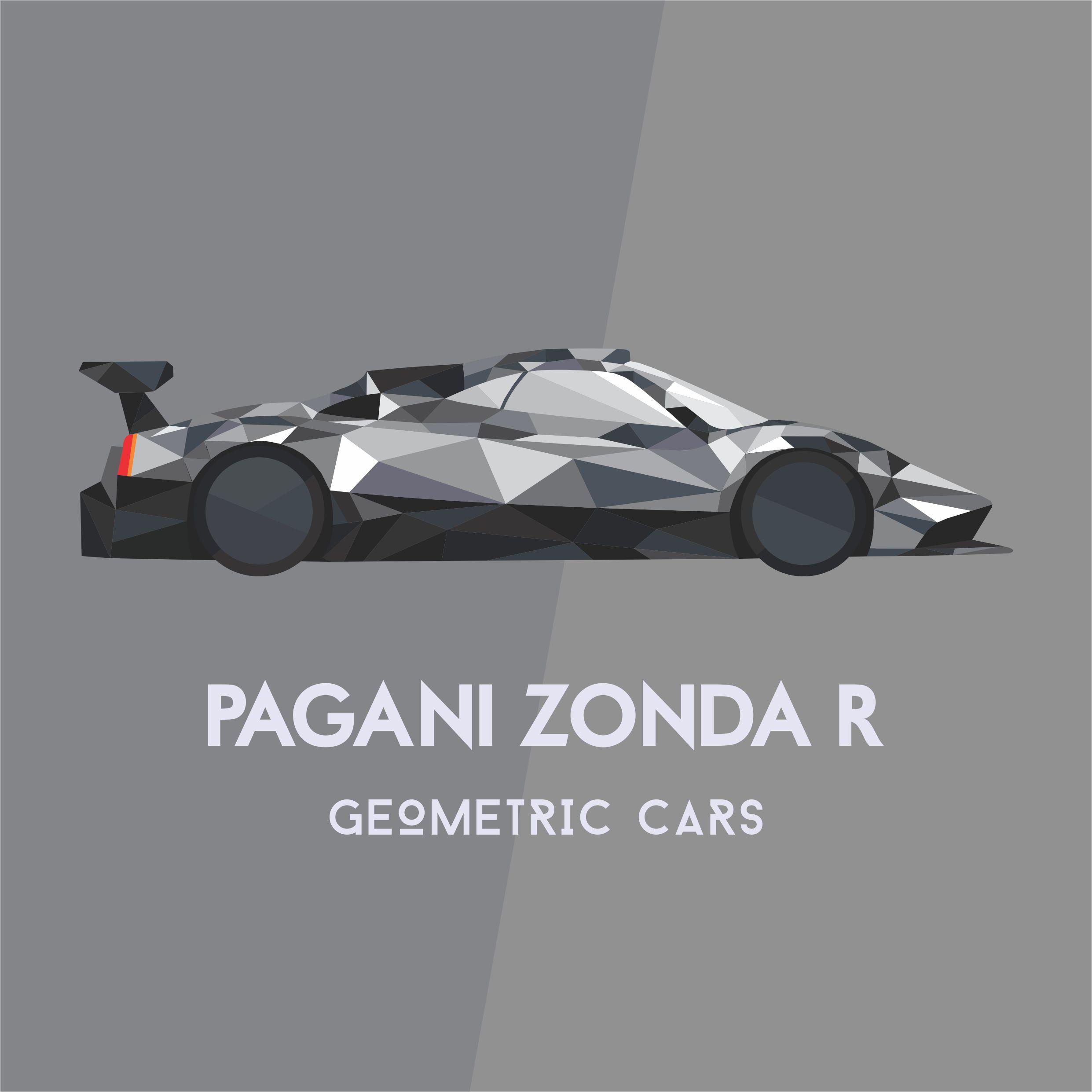 Pagani Zonda R Geometric Car Collection