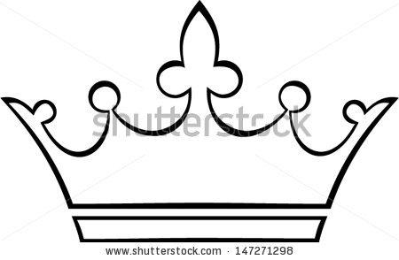 pageant clipart - Crown Outline Clip Art