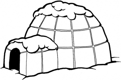 Pages Online Igloo Coloring Pages Igloo Vector Igloo Clip Art