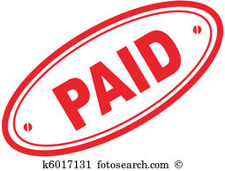 Paid Word Stamp-paid word stamp-18