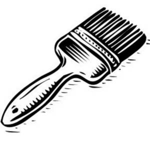 Paint Brush Clip Art Black And White Gal-Paint Brush Clip Art Black And White Gallery-16