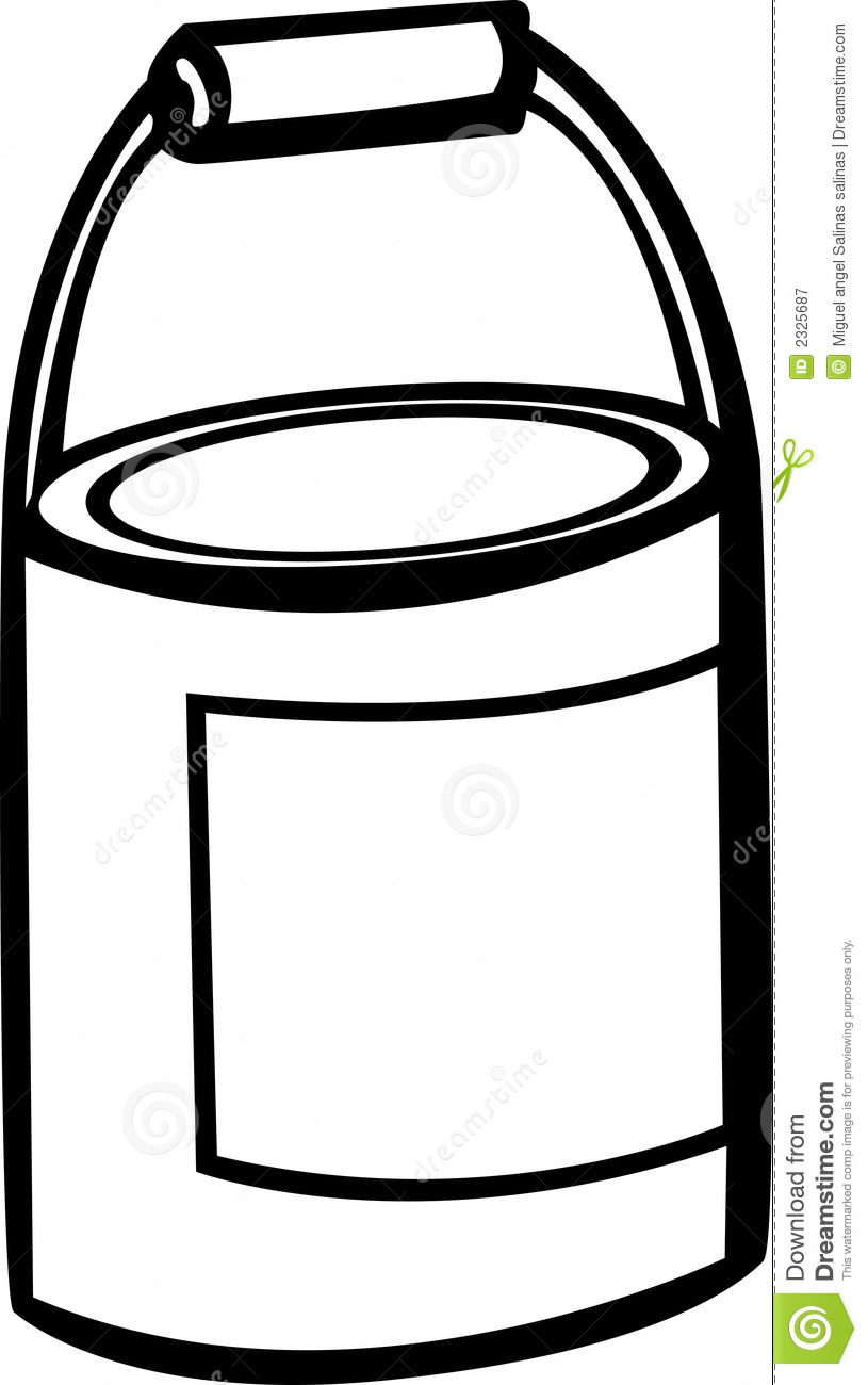 Paint Bucket Clip Art Paint B - Paint Can Clip Art