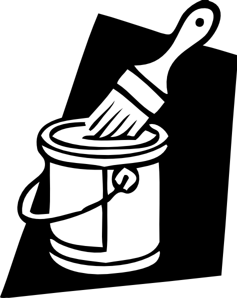 Paint Can And Brush Clip Art  - Paint Can Clip Art
