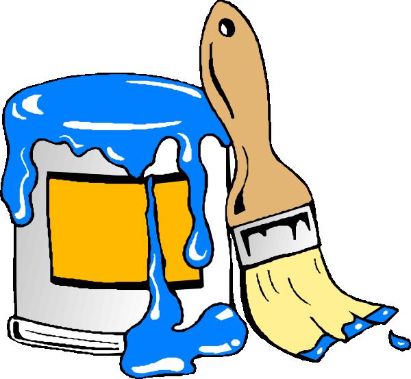 Paint Can Brush Clip Art - Paint Can Clip Art