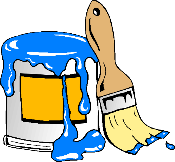 Paint Can Brush Clip Art - Paint Can Clipart