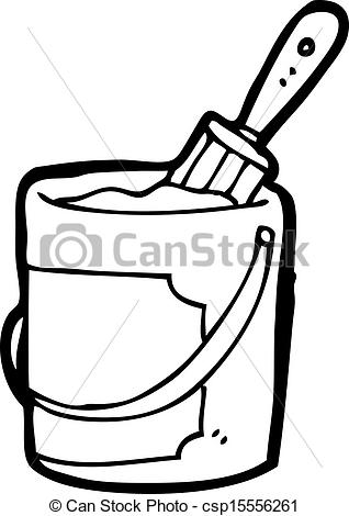 Paint Can And Brush Clip Art