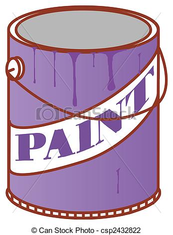 ... Paint Can - illustration  - Paint Can Clipart