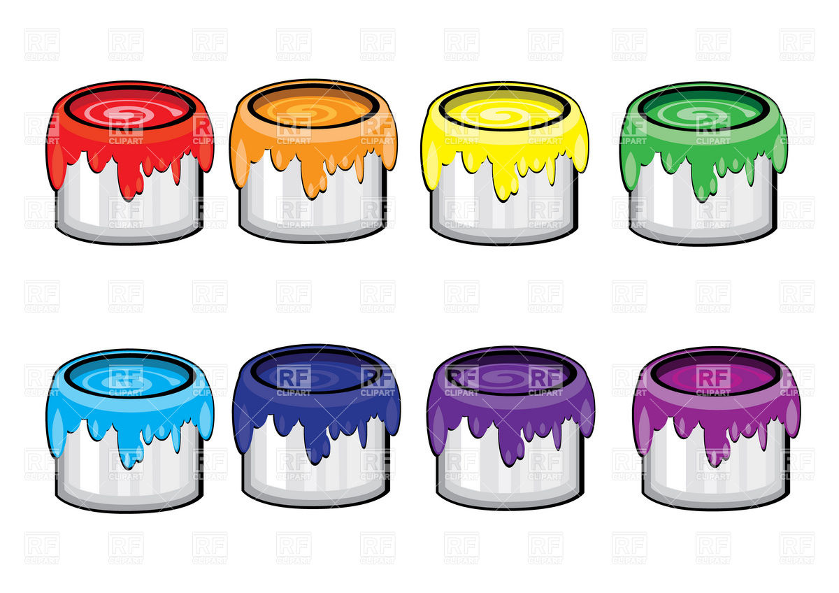 Paint Cans 8060 Objects Download Royalty Free Vector Clipart Eps