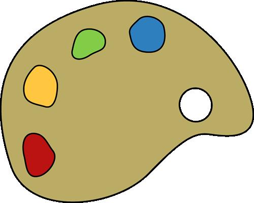 Paint Palette Clip Art Image - Paint Pal-Paint Palette Clip Art Image - paint palette with colorful paints.-9