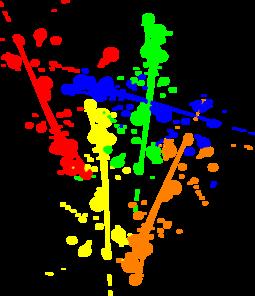 Paint Splatter clip art .