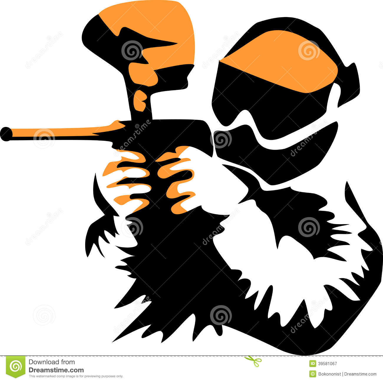 Paintball Black Clipart