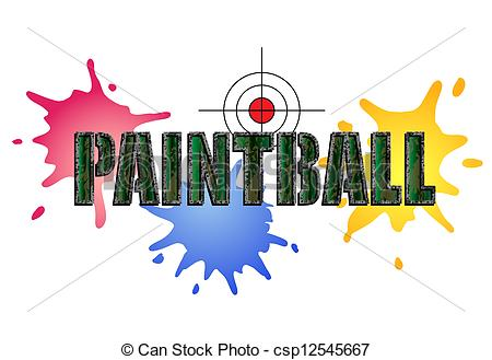 ... Paintball Logo - Paintball logo in camouflage style with.