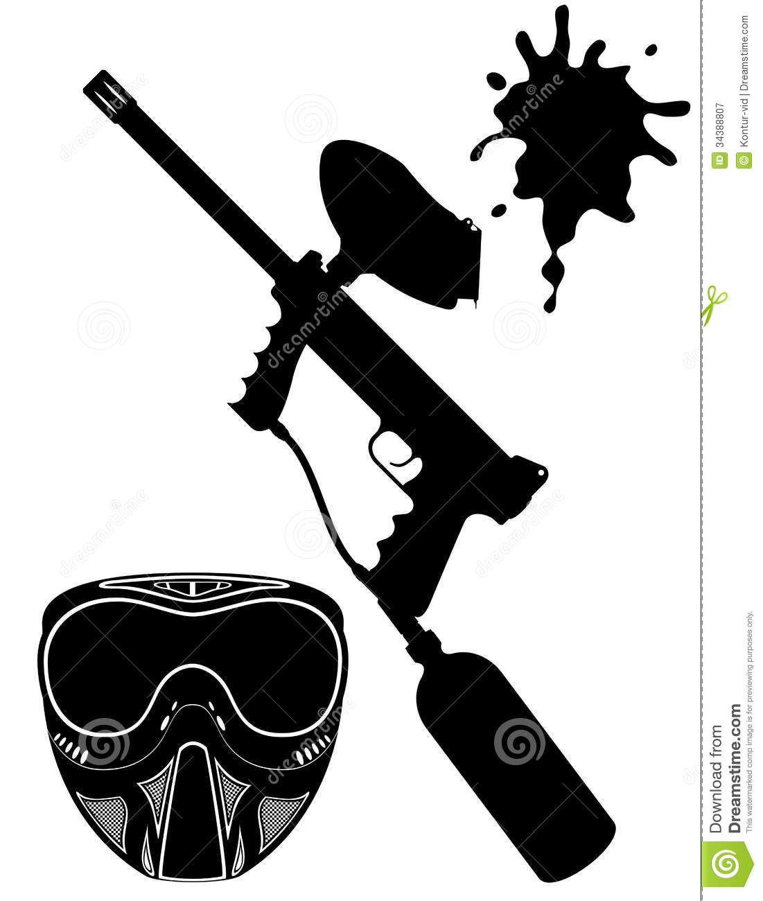 Paintball Vector Clipart #1 - Paintball Clip Art