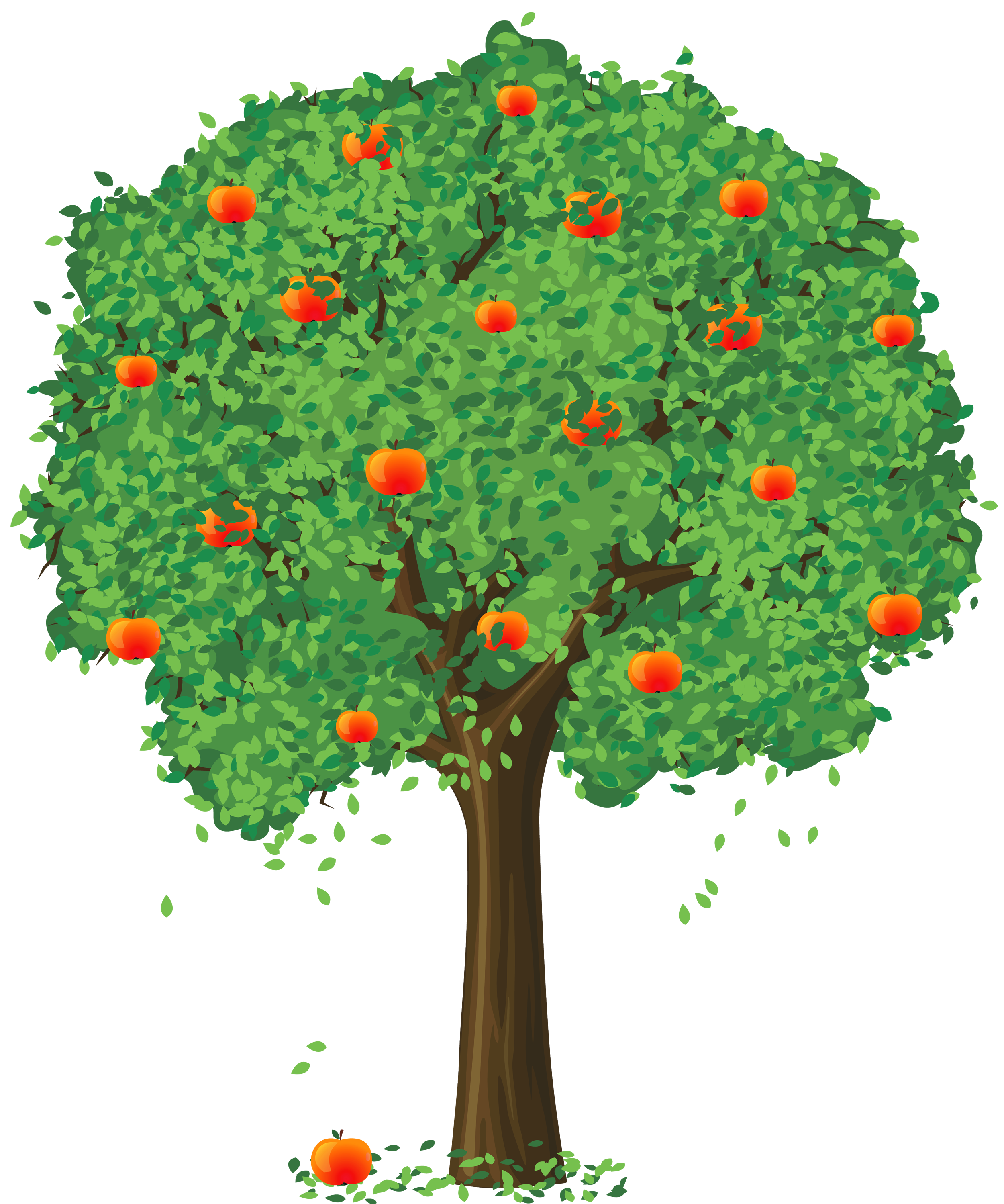 Painted Apple Tree Png Clipar - Apple Tree Clip Art