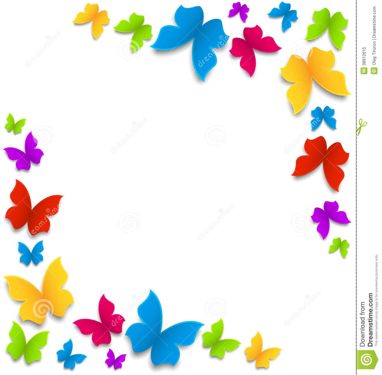 painted butterflies border