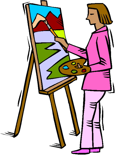 Painter Clipart Clip Art Painting 774826 Jpg
