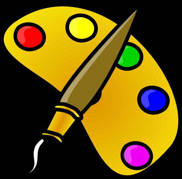 Painter Color Palette With Brush Cartoon-Painter Color Palette With Brush Cartoon Clip Art At Clker Com-18